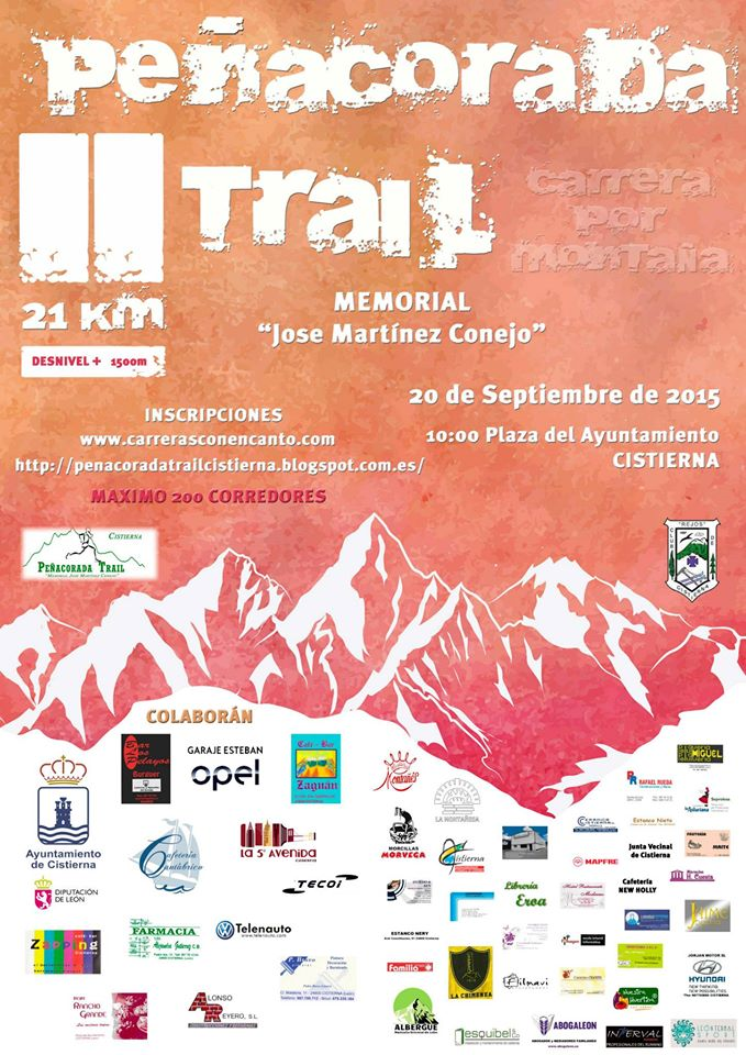 Cartel Peñacorada Trail 2015